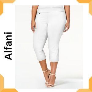 Plus Size Tummy-Control Capri Pants Bright White